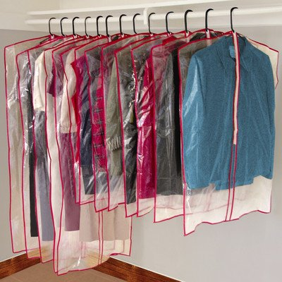 zippered clear garment bags - 1