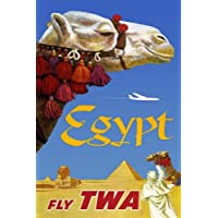 Countries Travel Poster Egypt Twa CTP016 Canvas A3 Size
