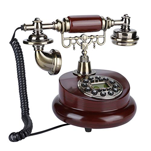 Antique Telephone, Fixed Digital Vintage Telephone Classic European Retro Landline Telephone Corded with Hanging Headset for Home Hotel Office Decor from Zerone