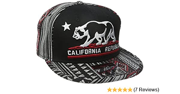 California Republic Embroidered Bear Flag Flat Bill Snapback Hat - Aztec  Tribal Pattern at Amazon Men s Clothing store  3d6d2b150f19