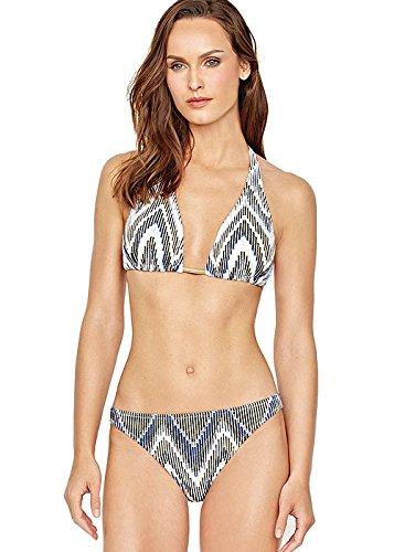 Multi UK 12 Gottex Couture golden Sand Halter Neck Bikini