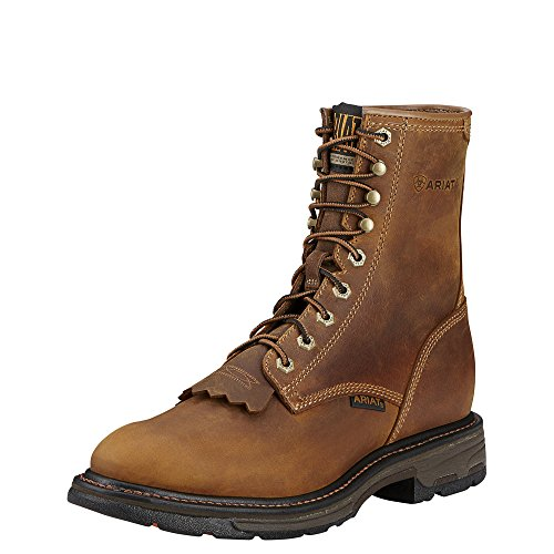 "Ariat Men's Workhog 8"" Composite Toe Work Boot, Aged Bark, 1"