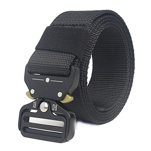- Xeminor Tactical Belt, Military Style Webbing Riggers Web Belt with Heavy-Duty Quick-Release Metal Buckle in Delicate Gift Box