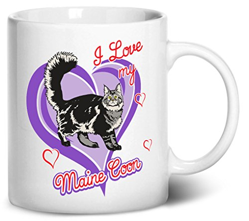 Largest Maine Coon Cat - Tenacitee Maine Coon Cat Coffee Mug, 11oz, White