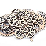 Romacci- Alloy Clock Watch Gear Wheel DIY Ornament Accessories Mechanical Gear Wheel Charms Jewelry Arts Parts for Crafting