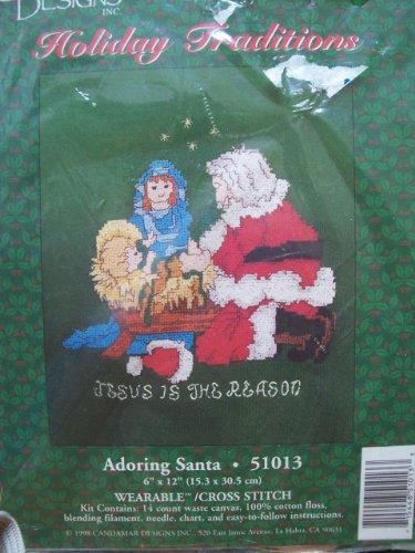 Adoring Santa Wearable Counted Cross Stitch Kit