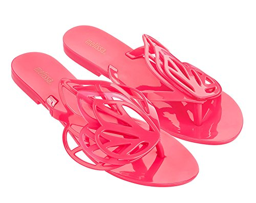 Melissa Women's New Fly Sandals, Pink, 8 B(M) US