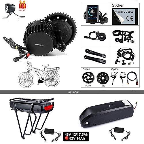 BAFANG BBSHD BBS03 48V 1000W Mid Motor Ebike Conversion Kit T42 Chainring Wheel LCD Display 850C Eletric Bike Motor Kit