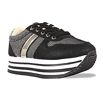 ShoBeautiful Womens Sneaker Silver Size: 5