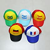 Liangmao 2018 World Cup Hat cap football movement Germany Argentina Brazil Fans supplies gift souvenir Peak Hat adult child (Color : Spain)