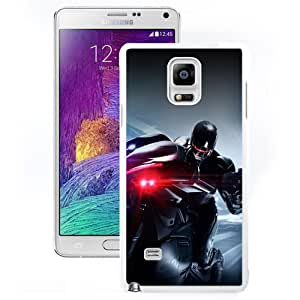 Durable Phone Case RoboCop 2014 Riding Motorcycle Galaxy Note 4 Wallpaper in White