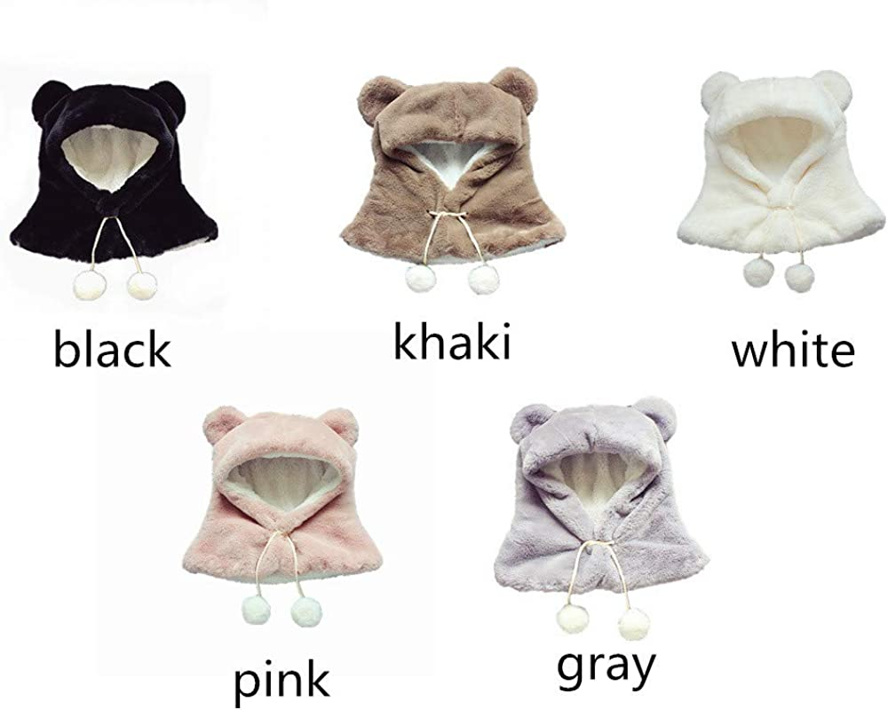 kaiCran Adorable Cute Baby Girls Boys Winter Soft Hat Scarf Toddler Earflap Cap Hood Scarves