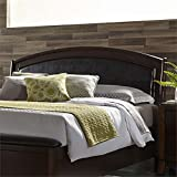 Bowery Hill King Faux Leather Panel Headboard in Truffle