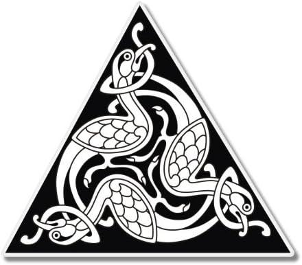 Celtic Triangle Design Birds Car Laptop Phone Vinyl Sticker SELECT SIZE