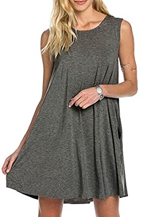 Bamboo fiber knit sleeveless t shirt dress at amazon women for Bamboo fiber t shirt