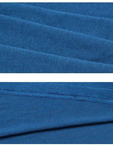Manga T Blusa de corta mujer camisero Vestido qPwAYIUw