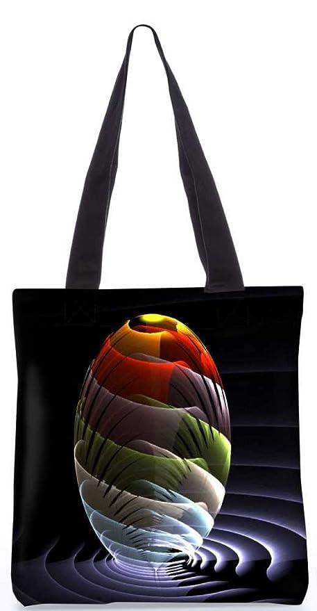 Snoogg Onde Globo Tote Bag 13,5 X 15 In 'Borsa Della Spesa