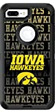 Iowa - Repeating design on Black OtterBox Defender for iPhone 8 Plus