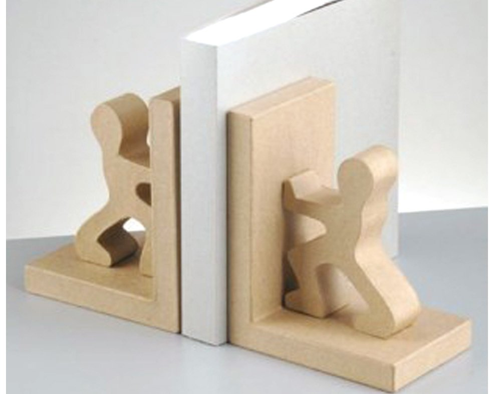 Paper Mache Men Bookends to Decorate by Crafty Capers