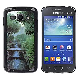 Exotic-Star ( Nature Misty Morning ) Fundas Cover Cubre Hard Case Cover para Samsung Galaxy Ace 3 III / GT-S7270 / GT-S7275 / GT-S7272
