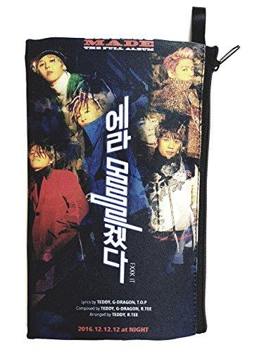 BIGBANG Big Bang -MADE K-POP BIG Zip Pen Pencil / Cosmetic Makeup Case Bag Pouch Stationery - York New Prada