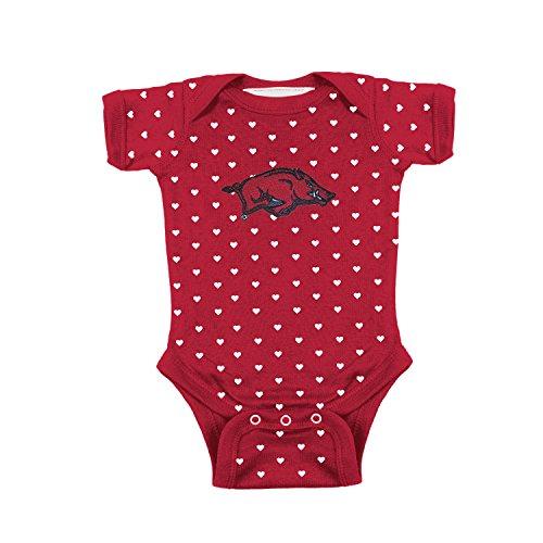 - Two Feet Ahead Arkansas Razorbacks NCAA College Newborn Infant Baby Heart Creeper (6 Months)
