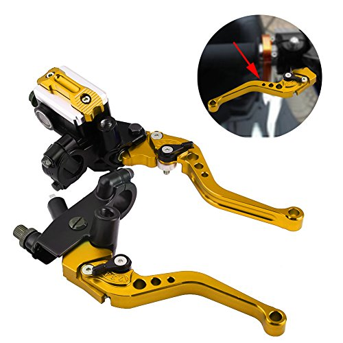 1 Pair Motorcycle Brake and Clutch Levers Universal Brake Clutch Master Cylinder Reservoir Levers 7/8