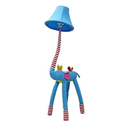LXFMD Lámpara de pie de Tela de Elefante de Dibujos Animados ...