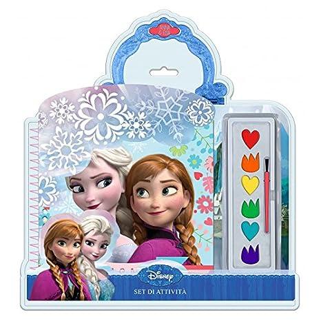 Colori Aquerelli Con Libro Da Colorare Frozen Elsa E Anna Disney Cm