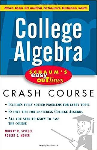 Schaum\'s Easy Outline: College Algebra: Murray Spiegel, Robert Moyer ...