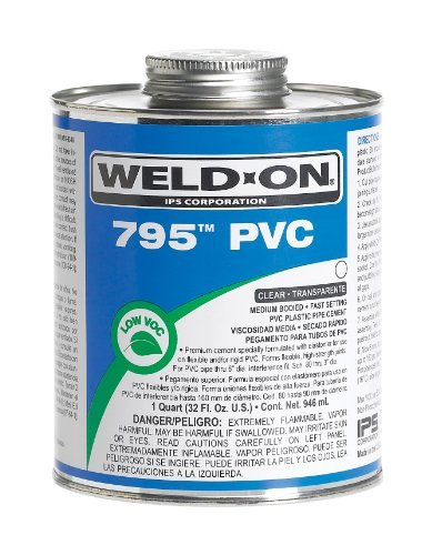 Amazon.com: Weld-On 795 10282, Cemento de PVC para Plomería ...