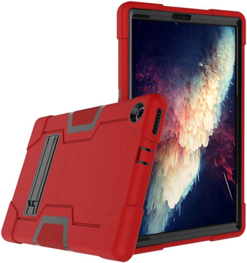 Cherrry for Lenovo Tab M10 Plus 10.3 Inch Case,Hybrid Full-Body Shockproof Armor Defender Rugged Protective Case Cover with Stand for Lenovo Tab M10 Plus(TB-X606F/TB-X606X) 10.3 Inch (Red/Black)