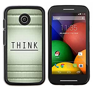 Caucho caso de Shell duro de la cubierta de accesorios de protección BY RAYDREAMMM - Motorola Moto E - Piense Mensaje Madera Bambú Negro