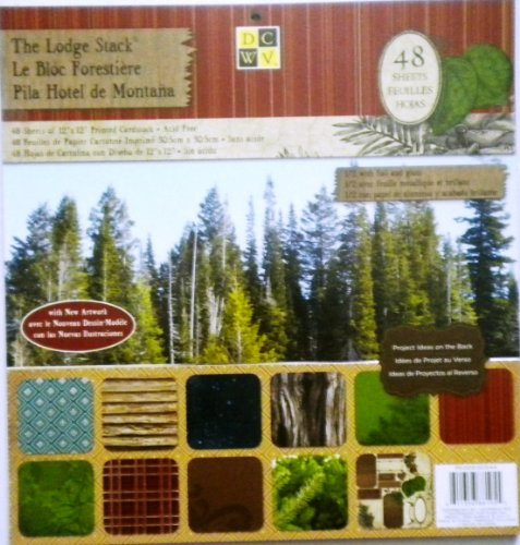 """DCWV Die Cuts With a View The Lodge 12"""" x 12"""" Scrapbooking Stack Papers & Project"""