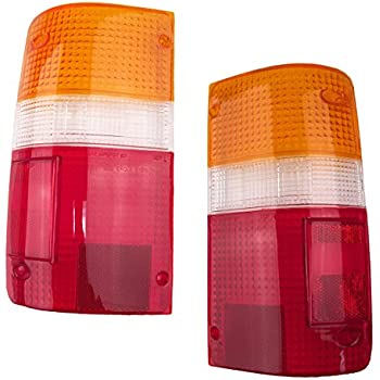 1989-1995 Toyota Pickup Truck 2WD & 4WD Rear Brake Tail Light Lamp Taillight Taillamp Lens Only Pair Set: Right Passenger AND Left Driver Side (1989 89 1990 ...