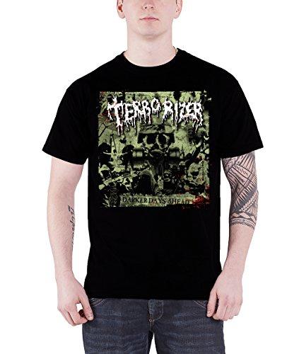 Terrorizer Darker Days Ahead Official Mens New Black T Shirt
