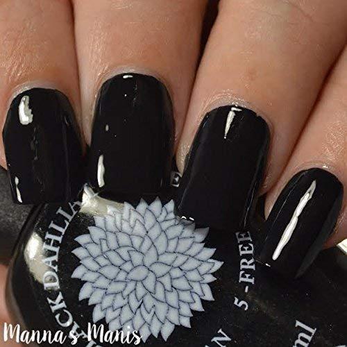 Midnight Rose | Pitch Black Cream Nail Polish | by Black Dahlia Lacquer