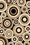 Black 2X4 Carved Circles Abstract Geometric Mat Rug