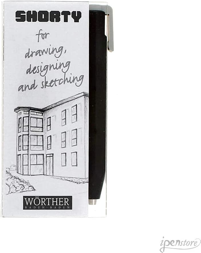 Worther Shorty 3.15 mm Mechanical Pencil Black w//Grey Clip