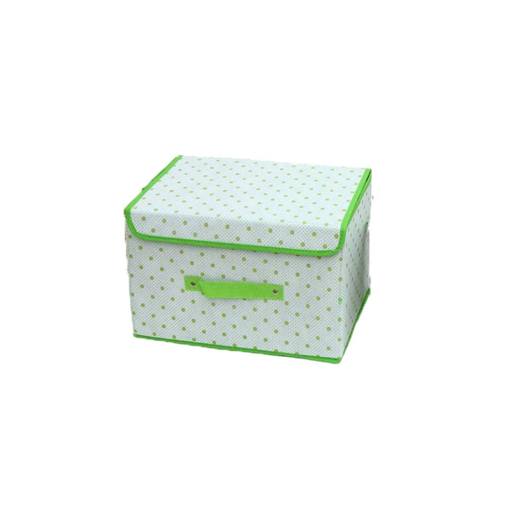 VADOLY Foldable Non-Woven Fabric Dots Storage Box Organizer Clothes Underwear Toy Shoes Bag for Bedroom Desktop Keep Home Tidy