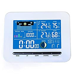 Shalleen Wireless Color Display Weather Station Indoor Outdoor Thermometer Temp Humidity
