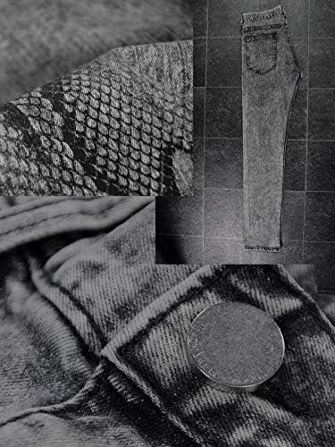 ケミカル デニム 蛇 スネーク パイソン柄 ストレッチ スリム メンズ ブラック黒 zkk031