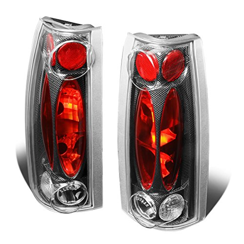 - For 1988-2001 Chevy C/K Blazer Tahoe Carbon Fiber Housing Altezza Style Tail Light Brake/Parking Lamps