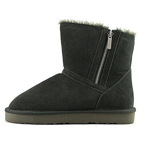 Style & Co. ciley, Kaltes Wetter Stiefel Frauen, Geschlossener Zeh, Leder Grey