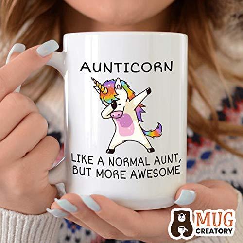 Mug Creatory -  Aunt Gift,  Aunt Mug, Aunt Cup, Unicorn Auntie Mug, Aunt Coffee Mug, Gift for Aunt, Auntie Gift, New Aunt Gift, Funny Coffee Mug, Aunticorn, Coffee Mug 11oZ