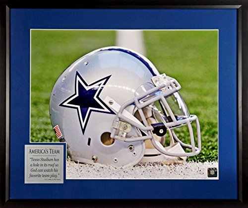 "(Dallas Cowboys ""America's Team"" Helmet 16x20 Photograph with ""God's Favorite Team"" Quote Plate Framed)"