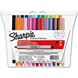 Sharpie Ultra-Fine-Point Permanent Markers, 24-Pack Colored Markers Case of 48 Packs