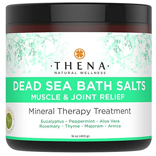 Organic Muscle Relief Soak With Arnica & Stress Relief Essential Oils Peppermint Eucalyptus, 100% Natural Dead Sea Bath Salts For Relaxation Sore Muscles Detox Soaking Relaxing SPA Products Women Men