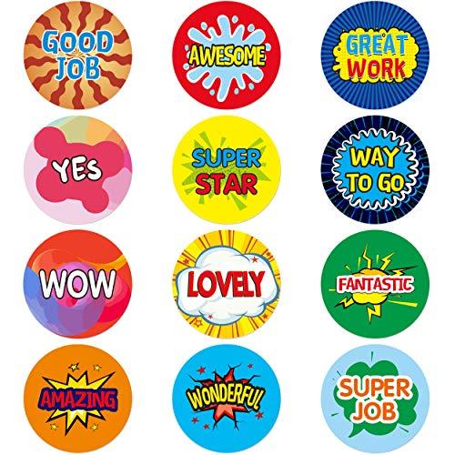 1920 PCS Teacher Reward Motivational Sticker for Children in 12 Designs
