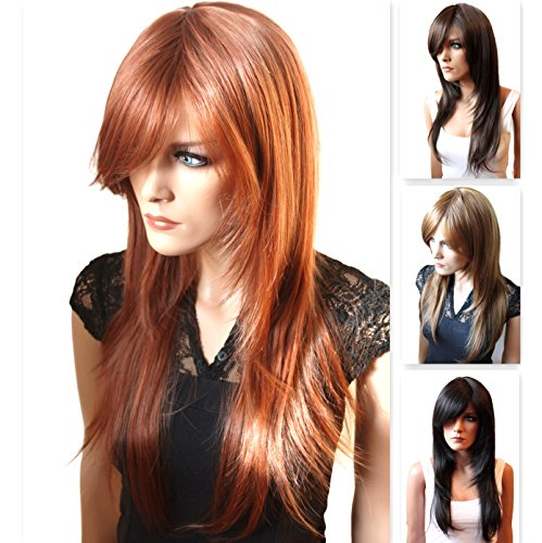 PRETTYSHOP Unisex Full Wig Long Hair smooth Heat-Resistant 51JkWyEKISL